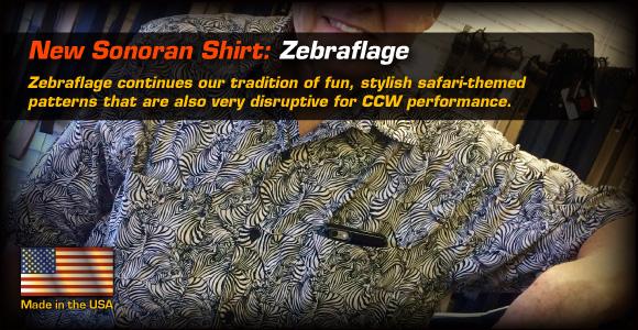 New Sonoran Shirt: Zebraflage!