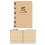 "Tactical spiral notebook, 4-5/8"" x 7"" - tan"