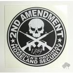 """2nd Amendment""  vinyl die-cut sticker, various colors"