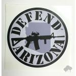 """Defend Arizona""  vinyl die-cut sticker, various colors"
